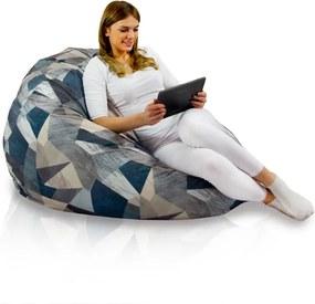 Sedací vak SAKO Abstract - L, materiál polyester