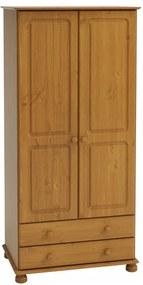 Sconto Šatníková skriňa ROCKWOOD borovica masív, 2 zásuvky, 83 cm