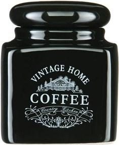 Čierna dóza na kávu Premier Housewares Vintage Home