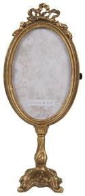 Zdobený zlatý stojacie rámik na fotografie Cornelie - 11 * 7 * 28 cm