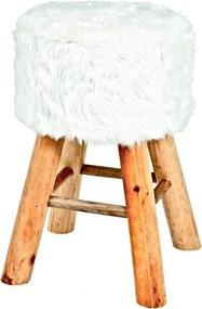 Stolička Nova I., 45 cm, masív/biela