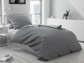 Bavlnené obliečky Caprivi sivé gombíky Rozmer obliečok: 70 x 90 cm, 140 x 200 cm