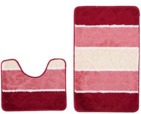 Kúpeľňové predložky Listy červené 2 ks, Velikosti 50x80cm