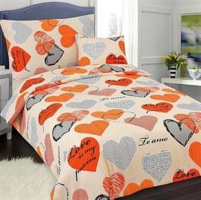 HoD Obliečky Ľúbezná Oranžová Bavlna 7-dielna súprava