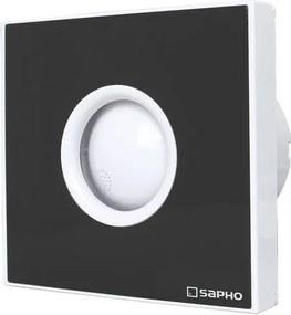 SAPHO - LITE koupelnový ventilátor axiální s časovačem, 15W, potrubí 100mm, černá (LT104