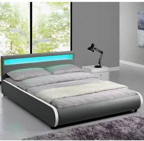 Čalúnená posteľ Sevilla 180 x 200 cm - sivá