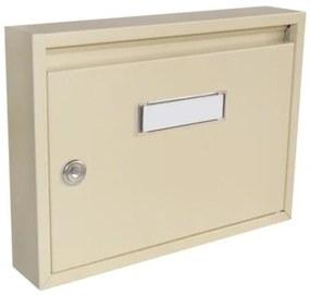 Poštová schránka DLS-E-01, vhod formát A4, interierové schránky, béžová RAL 1014 / Barva schránky:Béžová RAL 1014