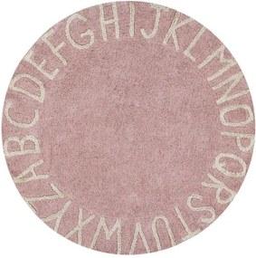 lovel.sk Okrúhly koberec  abeceda ABC Pink-Natural