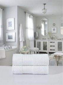 Sada 2 bielych bavlnených osušiek Muller Textiels, 70 × 140 cm