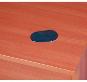 Písací stôl ergonomický pravý, breza