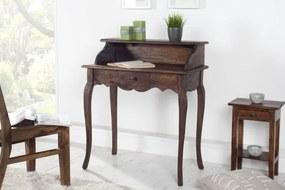 Bighome - Písací stôl HEWING - kávová