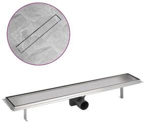 Sprchový podlahový žľab, 730x140 mm, nerezová oceľ