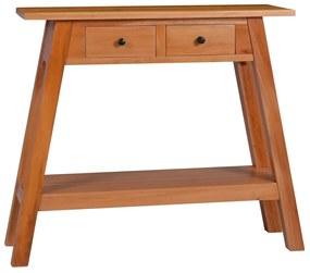 vidaXL Konzolový stolík 90x30x75 cm mahagónový masív