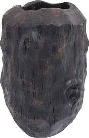 Čierna váza Kare Design Elemento, výška 56 cm