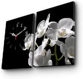 Dekoratívne nástenné hodiny Kvety, 64 × 40 cm