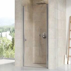 Sprchové dvere Ravak Chrome jednokrídlové 80 cm, sklo číre, chróm profil 0QV40C00Z1
