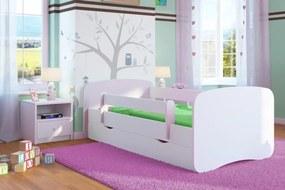 OURBABY detská posteľ so zábranou - biela len úložný priestor 180 cm