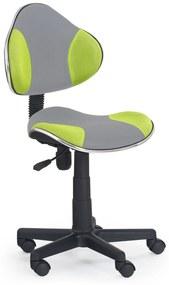 308d9c157407 Detská stolička FLASH 2 šedá + zelená