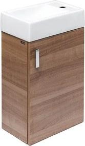 Kúpeľňová skrinka s umývadlom Jika Litt 40x22,1x67,5 cm v dekore čerešňa H4535111753081