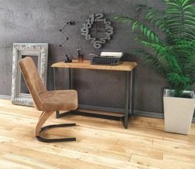 HALMAR KN-3 konzolový stolík dub zlatý / čierna