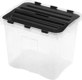 heidrun Plastový úložný box s vekom HEIDRUN Classic 24l