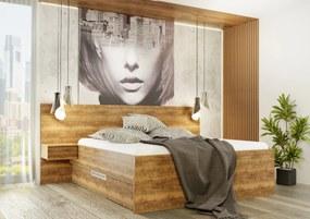 Wood Service Posteľ Katka Kráľovská výška s úložným priestorom 180 x 200