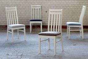 Jedálenská stolička Paulina / biela - antická šedá