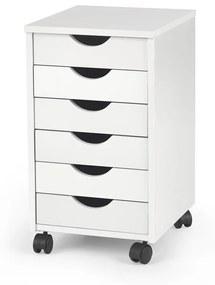 HALMAR Simon 2 kontajner na kolieskach biela / biely lesk