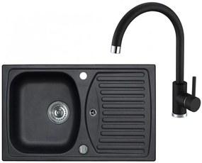 ALVEUS Set RECORD 30 drez 780x480 mm + batéria TONIA, čierna