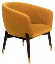Lounge křeslo DUTCHBONE DOLLY, ochre FR Dutchbone 3100093