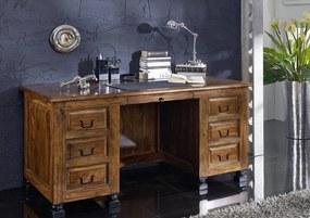Bighome - KOLONIAL Písací stôl so skrinkou 150x70 cm, palisander