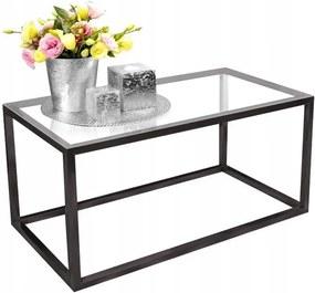 Tutumi Konferenčný presklený stolík Glamour 90 × 50 - čierny