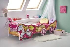 HALMAR Cinderella detská posteľ s roštom a matracom kombinácia farieb