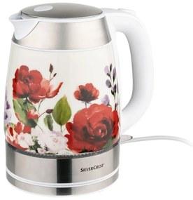 SILVERCREST® Rýchlovarná kanvica SWKK 2400 C2 (kvety), viacfarebná (100319442)