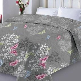 XPOSE® Prikrývka na posteľ DENISA - tmavo sivá 220x240 cm