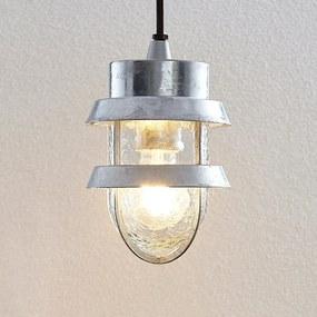 Vonkajšia závesná lampa Alvaro striebro odolná