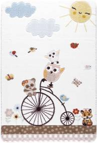 Detský biely koberec Confetti Sunny Day, 100 × 150 cm