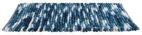 Modrá kúpeľňová predložka Wenko Smooth Blue, 90 × 60 cm