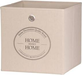 Úložný box Beta 1, 32 cm, Home Sweet Home, béžová