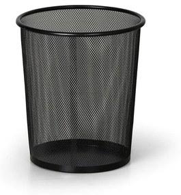 Drôtený odpadkový kôš na papiere, 12 litrov, čierny