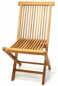 Skladacia stolička z teakového dreva