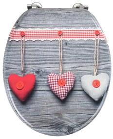 WC sedadlo Wenko Bavarian Hearts, 43 × 37 cm