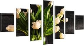 Obraz na plátne Krémové tulipány 210x100cm 1392A_7A