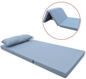 vidaXL Detský skladací matrac, šedý