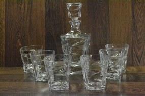 Kryštáľová sada na WHISKEY 6 pohárov + fľaša (BOHEMIA)