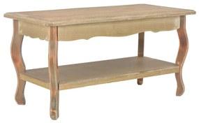 vidaXL Konferenčný stolík 87,5x42x44cm masívne borovicové drevo