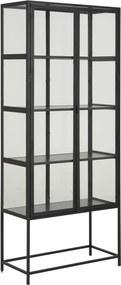 Dizajnová vitrína Naja 4 police čierna