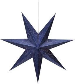 Modrá svetelná závesná dekorácia Markslöjd Isadora, výška 75 cm