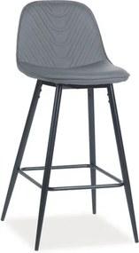 Najlacnejsinabytok TEO H-1 barová stolička, šedá