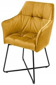 Loft stolička žltá
